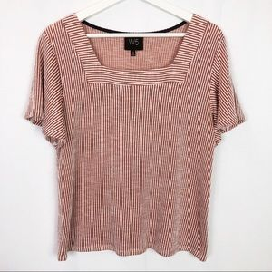 Anthropologie W5 Square Neck Ribbed T-Shirt